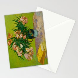 Oleanders Vincent van Gogh Oil On Canvas Floral Still Life Painting Stationery Cards