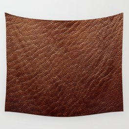 Leather Texture (Dark Brown) Wall Tapestry