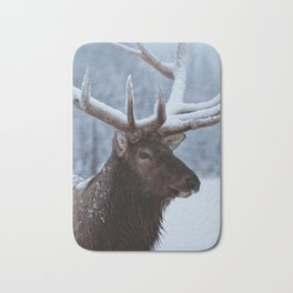 Antlers In Snow Bath Mat
