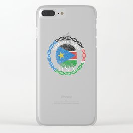 South Sudan Its In My DNA Clear iPhone Case