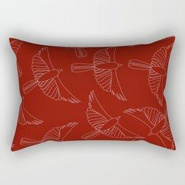 Scraffito Cardinal Rectangular Pillow