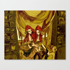 The Conjoined Twins in the Museum of Monstrosities  Canvas Print
