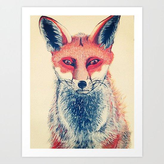 Mr Fawx Art Print