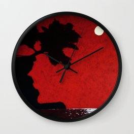 Red Skies at Night Wall Clock