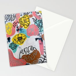 Floral Abstract  Stationery Cards