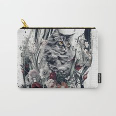 Cat in flowers Carry-All Pouch