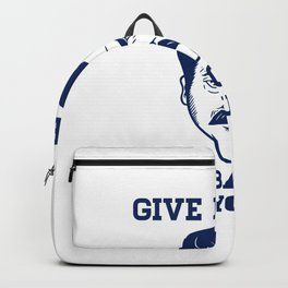 Give Me All The Bacon and Eggs Ron Swanson Backpack