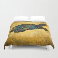 beth hoeckel Duvet Covers featuring Tortus by Ben Geiger