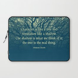 Tree of Character VINTAGE BLUE / Deep thoughts by Abe Lincoln Laptop Sleeve