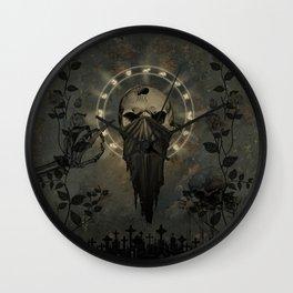 Creepy skull Wall Clock