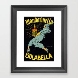 Vintage Poster Italian - Mandarinetto, Isolabella by Marcello Dudovich Framed Art Print