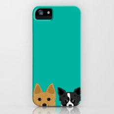 Pippen & Sooty - Teal iPhone (5, 5s) Slim Case