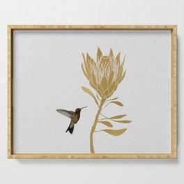 Hummingbird & Flower I Serving Tray
