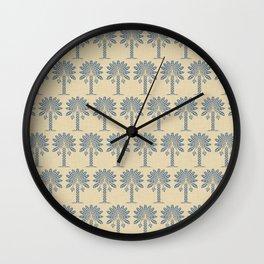 Kashmir Blue Spice Moods Palm Wall Clock