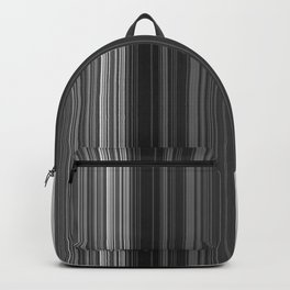 Black White Gray Thin Stripes Backpack