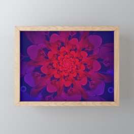 Abstract Colorful Flower with Hearts | Valentine's Day - 14 February Framed Mini Art Print