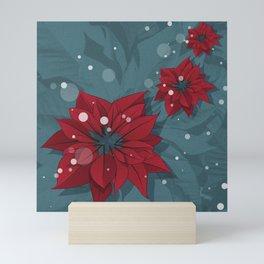 Poinsettias - Christmas flowers | BG Color II Mini Art Print