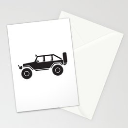 Off Road 4x4 Silhouette Stationery Cards
