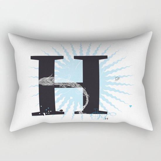 H like Heidi, Harry, Halloween… Rectangular Pillow