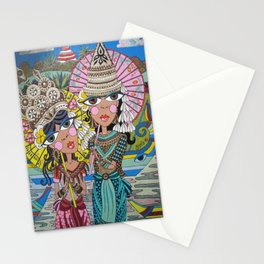 Two Girls with Parasols Stationery Cards