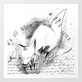 minima - deco fox Art Print