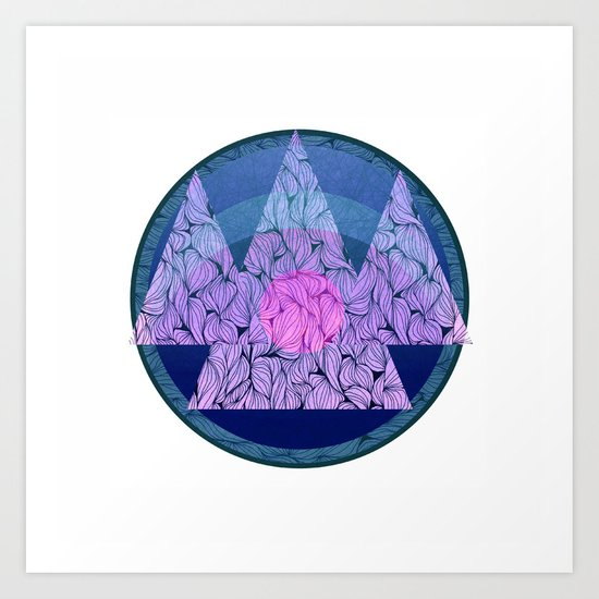 Northern mountains Art Print