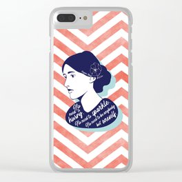 No Need - Virginia Woolf Clear iPhone Case