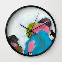 persona Wall Clocks featuring Visions #02 by canefantasma