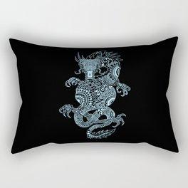 Mystic Chinese Dragon in Light Blue Rectangular Pillow