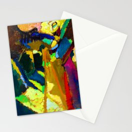 Wassily Kandinsky Painting Outdoors Stationery Cards