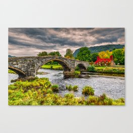 Llanrwst Bridge Autumn Canvas Print