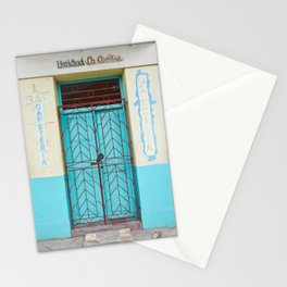 Havana Cuba Old Iron Door Colorful Latin America Caribbean Island Travel Art Print Turquoise Stationery Cards