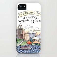 We Belong in Seattle Slim Case iPhone (5, 5s)