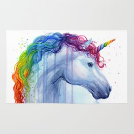 Magical Rainbow Unicorn Rug
