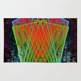 A Psychedelic Hand of Cards Rug