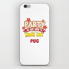 Pug Dog Party iPhone Skin