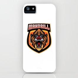 Mandril Mascot iPhone Case