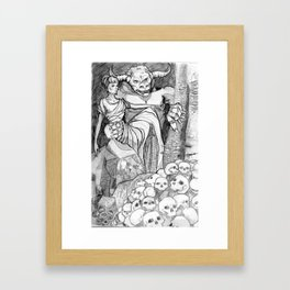Beauty and the Beast - Alternative Greek Version Framed Art Print