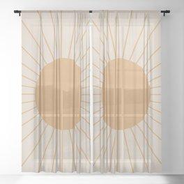 Minimal Sunrays Sheer Curtain