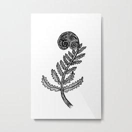 Fern Fiddlehead Metal Print