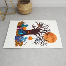 HALLOWEEN DRAGON PARTY (PAINTING) Rug