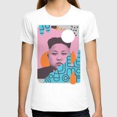Kim Jong Fun! MEDIUM White Womens Fitted Tee