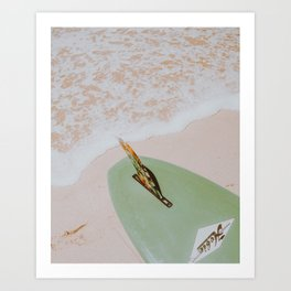 lets surf xxxvii / honolulu, hawaii Art Print