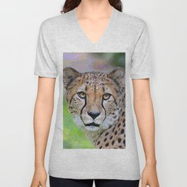 AnimalPaint_Cheetah_20171201_by_JAMColorsSpecial Unisex V-Neck