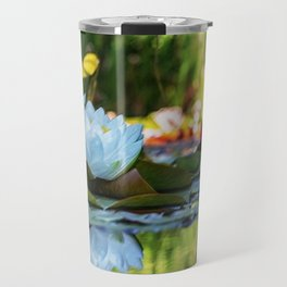 White Water Lilies Landscape Painting - Jeanpaul Ferro Travel Mug