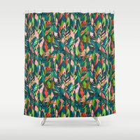 jungle Shower Curtains featuring Jungle by The Patternbase