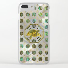 Golden Tortoise / Turtle Feng Shui Abalone Shell Clear iPhone Case