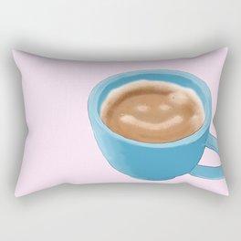 """You mocha me smile a latte"" -Average Joe Rectangular Pillow"