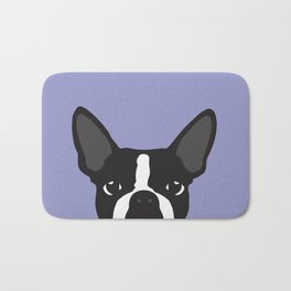 Boston Terrier Violet Bath Mat