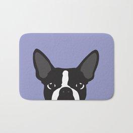 Boston Terrier Violet Bath Mat
